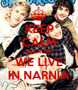 KEEP CALM BECAUSE WE LIVE IN NARNIA - Personalised Poster large