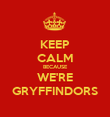 KEEP CALM BECAUSE WE'RE GRYFFINDORS - Personalised Poster large