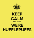 KEEP CALM BECAUSE WE'RE HUFFLEPUFFS - Personalised Poster large