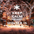 KEEP CALM BECAUSE WINTER IS COMING... - Personalised Poster large