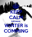KEEP CALM because  WINTER is COMMING - Personalised Poster large