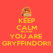 KEEP CALM BECAUSE YOU ARE  GRYFFINDOR!! - Personalised Poster large