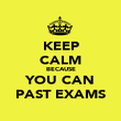 KEEP CALM BECAUSE YOU CAN PAST EXAMS - Personalised Poster large