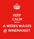 KEEP CALM BLOW A WEEKS WAGES @ WINEMARKET - Personalised Poster large