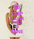 KEEP CALM BONNIE IS MINE - Personalised Poster large