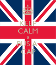 KEEP CALM & BUS A  CAP - Personalised Poster large