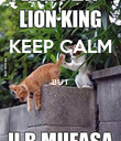 KEEP CALM  BUT   - Personalised Poster large