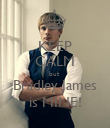KEEP CALM but  Bradley James is MINE! - Personalised Poster small