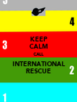 KEEP CALM CALL INTERNATIONAL RESCUE - Personalised Poster large