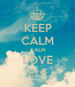 KEEP CALM CALM LOVE ELF - Personalised Poster large