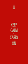 KEEP CALM & CARRY ON - Personalised Poster large