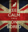 KEEP CALM CATS ON BORED - Personalised Poster large