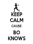 KEEP CALM CAUSE BO KNOWS - Personalised Poster large