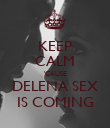 KEEP CALM 'CAUSE DELENA SEX IS COMING - Personalised Poster large