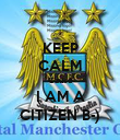 KEEP CALM Cause I AM A CITIZEN B-) - Personalised Poster large