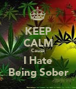 KEEP CALM Cause I Hate Being Sober - Personalised Poster large