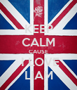 KEEP CALM CAUSE  I LOVE LIAM - Personalised Poster large