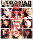 KEEP CALM CAUSE LIFE IS  A PARTY - Personalised Poster large