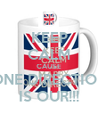 KEEP CALM CAUSE ONE DIRECTION IS OUR!!! - Personalised Poster large
