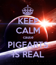 KEEP CALM cause PIGFARTS IS REAL - Personalised Poster large