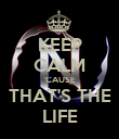 KEEP CALM 'CAUSE  THAT'S THE  LIFE - Personalised Poster large