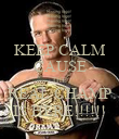 KEEP CALM CAUSE THE REAL CHAMP IS HERE!!!!!! - Personalised Poster large