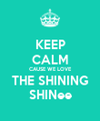 KEEP CALM CAUSE WE LOVE THE SHINING SHINee - Personalised Poster large