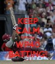 KEEP CALM CAUSE WP40 BATTING! - Personalised Poster large