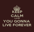 KEEP CALM CAUSE YOU GONNA  LIVE FOREVER - Personalised Poster large
