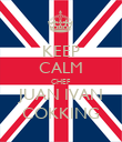 KEEP CALM CHEF JUAN IVAN COKKING - Personalised Poster large