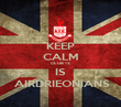 KEEP CALM CLUB 12 IS  AIRDRIEONIANS - Personalised Poster large