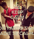 KEEP CALM ? CON TANTO SWAG NADIE SE CALMA. - Personalised Poster large