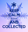 KEEP CALM COOL AND COLLECTED - Personalised Poster large