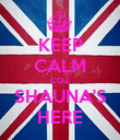 KEEP CALM COZ SHAUNA'S HERE - Personalised Poster large