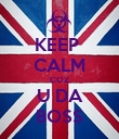 KEEP  CALM COZ U DA BOSS - Personalised Poster large