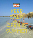KEEP CALM CRETE OPEN IN SUMMER - Personalised Poster large