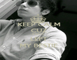 KEEP CALM CUZ 8 DAYS  LEFT MY BESTIE - Personalised Poster large