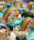 KEEP CALM CUZ IT'S MY B-DAY - Personalised Poster large