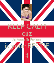 KEEP CALM cuz Jo-Anne Mc Farlane is your BESTIE :) - Personalised Poster large