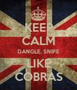 KEEP CALM DANGLE, SNIPE LIKE COBRAS - Personalised Poster large