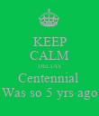 KEEP CALM DELTA's Centennial  Was so 5 yrs ago - Personalised Poster large