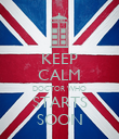 KEEP CALM DOCTOR WHO STARTS SOON - Personalised Poster large