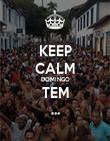 KEEP CALM DOMINGO TEM ... - Personalised Poster large