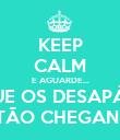 KEEP CALM E AGUARDE... PORQUE OS DESAPÁTICOS ESTÃO CHEGANDO - Personalised Poster large