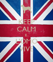 KEEP CALM E  L'OMO VIVE - Personalised Poster large
