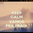 KEEP CALM E VAMOS PRA PRAIA - Personalised Poster large