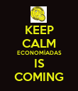 KEEP CALM ECONOMÍADAS IS COMING - Personalised Poster large