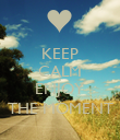 KEEP CALM & ENJOY THE MOMENT - Personalised Poster large