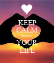 KEEP CALM ENJOY YOUR LIFE - Personalised Poster large