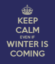 KEEP CALM EVEN IF WINTER IS COMING - Personalised Poster large